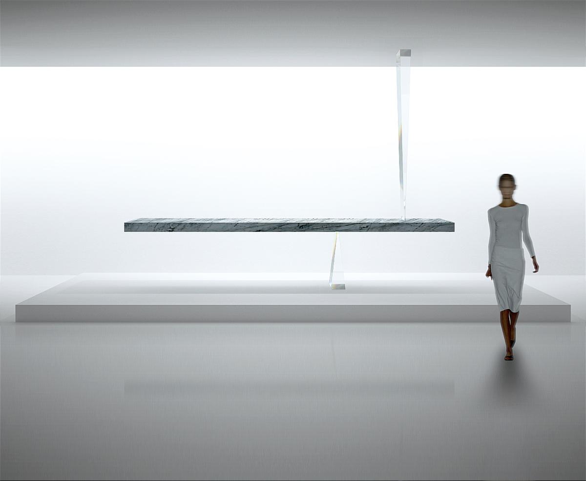 la table flottante de Tokujin Yoshioka